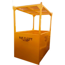 Saf-T-Lift 4' x 6' Steel Personnel Basket 1250lb. Capacity, Hi-Vis Safety Yellow - PB4X6