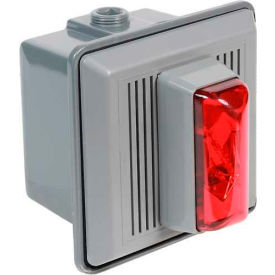 Edwards Signaling 868STRR-N5 Surface Mount Horn Strobe For Outdoor Use 120V AC Red