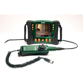 Extech HDV640 HD Videoscope Kit W/Handset/Articulating Probe, Green/Orange, Case Included- Pkg Qty 1
