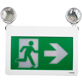 Combo LED Exit & Emergency Light, Battery Backup, 120/347 Volt- Pkg Qty 1