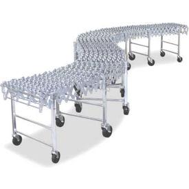 NestaFlex® 37624012SAL Expandable Flexible Conveyor - Steel Skate Wheels - 377 Lb./ft.