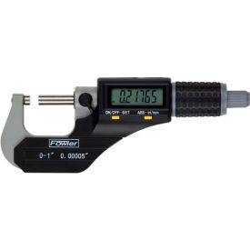 "Fowler 54-870-001 Xtra Value II 0-1"" IP54  Electronic Micrometer W/ Output & Stand"
