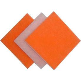 """Fabrication de filtration 118 a-20201 Polyester Media Pad anti-microbienne Org/blanc 20"""" W x 20 P «H x 1"""", qté par paquet : 35"""