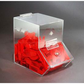 "FTR Enterprises Acrylic Dispensing Bin, Medium, Clear, 6-1/4""W x 10-1/2""D x 9-1/2""H"