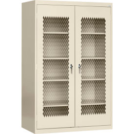 Sandusky Expanded Metal Door Storage Cabinet EA4M462472 - 46x24x72, Putty