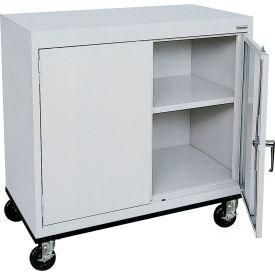 Sandusky Mobile Work Height Storage Cabinet TA11361830 Double Door - 36x18x30, Gray- Pkg Qty 1