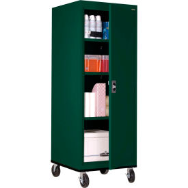 Sandusky Mobile Storage Cabinet TA3R242460- 24x24x66, Green