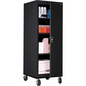Sandusky Mobile Storage Cabinet TA3R242460- 24x24x66, Black
