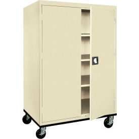 Sandusky Mobile Storage Cabinet TA3R462460- 46x24x66, Putty- Pkg Qty 1