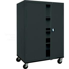Sandusky Mobile Storage Cabinet TA3R462460- 46x24x66, Black