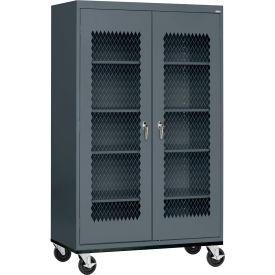Sandusky Expanded Metal Door Mobile Storage Cabinet TA4M462472 - 46x24x78, Charcoal- Pkg Qty 1