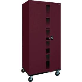 Sandusky Mobile Storage Cabinet TA4R362472 - 36x24x78, Burgundy- Pkg Qty 1