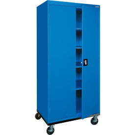 Sandusky Mobile Storage Cabinet TA4R362472 - 36x24x78, Blue