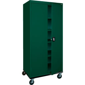 Sandusky Mobile Storage Cabinet TA4R362472 - 36x24x78, Green