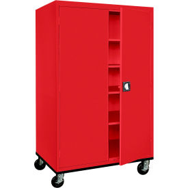 Sandusky Mobile Storage Cabinet TA4R462472 - 46x24x78, Red
