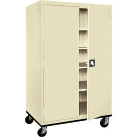 Sandusky Mobile Storage Cabinet TA4R462472 - 46x24x78, Putty