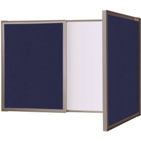 Ghent® VisuALL PC Dry Erase/Fabric Combination Board, Blue