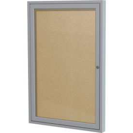 "Ghent® Outdoor Enclosed Satin Bulletin Board - 18""W x 24""H"