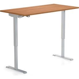 "Global™ Height Adjustable Table 70""W x 29""D x 27-46""H"" - Winter Cherry- Foli Series"