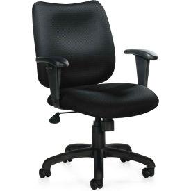 Bureaux à Go™ direction basculant Chaise avec bras - tissu - noir