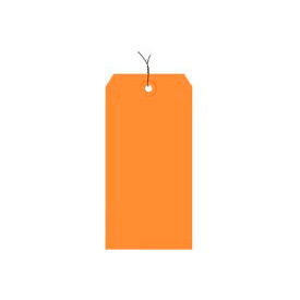 """#3 Orange Wired Tag Pack 3-3/4"""" x 1-7/8"""" - 1000 Pack"""