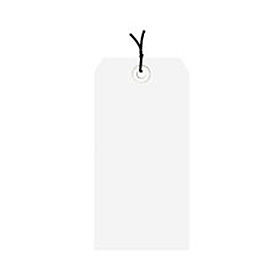 """#3 White Strung Tag Pack 3-3/4"""" x 1-7/8"""" - 1000 Pack"""