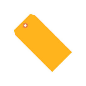 "#4 Orange Fluorescent Tag Pack 4-1/4"" x 2-1/8"" - 1000 Pack"