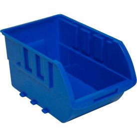 "Homak Single Medium Plastic Individual Bin HA01015612 No Logo, 5-7/8""W x 9-3/8""D x 4-7/8""H, Blue"