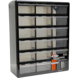"Homak 18 Drawer Parts Organizer, 14-3/4""W x 6-1/4""D x 18-1/2""H"