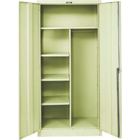 Hallowell 465C24PT 400 Series Solid Door Combination Cabinet, 48x24x72, Parchment, Unassembled