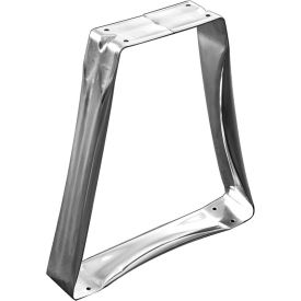 Hallowell 4825 Bench Pedestal Stainless Steel 3x3x16-1/4