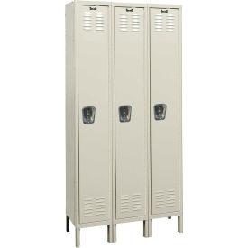 Hallowell U3848-1A Premium Locker Single Tier 18x24x72 - 3 Doors Assembled - Tan