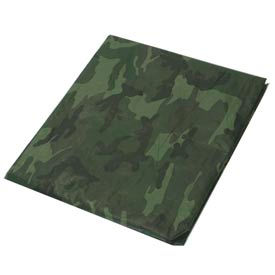 30' x 30' Light Duty 3.3 oz. Tarp, Camouflage/Green - CAMO30x30