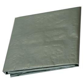 6' x 10' Medium Duty 6 oz. Tarp, Silver - ST6x10- Pkg Qty 1