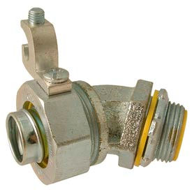 """Hubbell 3568 45 Degree Liquidtight Connector Insulated 2"""" Trade Size - Pkg Qty 5"""