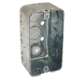 """Hubbell 660 Handy Box 4""""X2"""", 1-7/8"""" Deep, 1/2"""" End Knockouts, Drawn - Pkg Qty 50"""