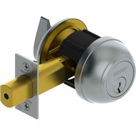 "3114 Grade 1 Deadlock - Double Cylinder 2-3/4"" Us26d Nc Ic"