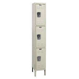Hallowell U1258-3G-A-PT Assembled Corrosion Resistant Locker Triple Tier 1 Wide - 12x15x26- Pkg Qty 1