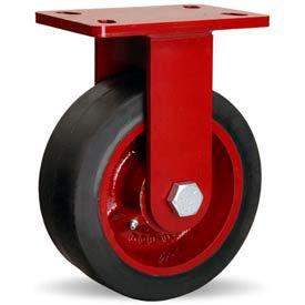 Hamilton® ForgeMaster™ Rigid 8 x 3 Mold-On Rubber Roller 840 Lb. Caster