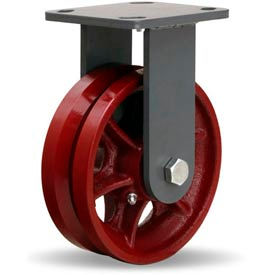 Hamilton® Workhorse Forged Rigid 6 x 2 V-Grooved Roller 1000 Lb. Caster