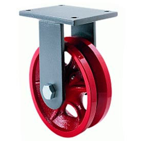 Hamilton® Whirlaway Cold Forged Rigid 4 x 1-1/2 V-Grooved Roller 550 Lb. Caster