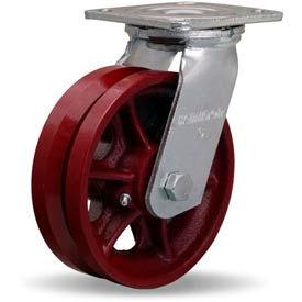 Hamilton® Standard Cold Forged Swivel 6 x 2 V-Grooved Roller 900 Lb. Caster