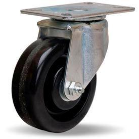 Hamilton® Hi-Lo Light Duty Swivel 4 x 1-1/2 Plastex Roller 375 Lb. Caster