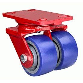 Hamilton® Heavy Service Swivel 5 x 2 Plastex Roller 2000 Lb. Dual Caster