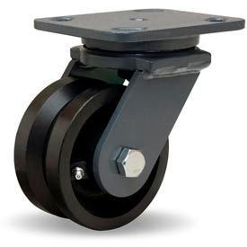 Hamilton® Workhorse Forged Swivel 4 x 2 V-Grooved Roller 800 Lb. Caster