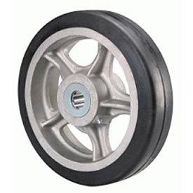 """Hamilton® Rubber On Aluminum Wheel 10 x 2 - 1"""" Roller Bearing"""