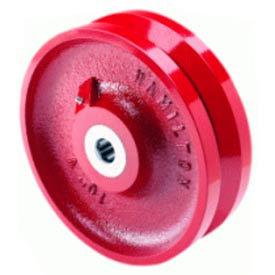 """Hamilton® V-Groove Wheel 4 x 1-1/2 - 1/2"""" Roller Bearing"""
