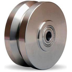 """Hamilton® Stainless V-Groove Wheel 5 x 2 - 1/2"""" Ball Bearing"""