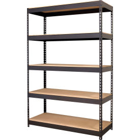 "Hirsh Industries® 48""W x 18""D x 72""H, Riveted Steel Boltless Shelving Unit, 5-Shelf"
