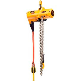Harrington TCS Cheetah Air Hoist with Pendant Control 1/2 Ton 10' Lift